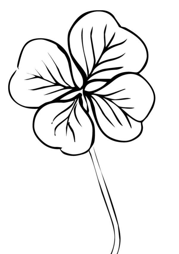 Coloriage : Trèfle à quatre feuilles