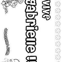 Gabrielle - Coloriage - Coloriage PRENOMS - Coloriage PRENOMS LETTRE G