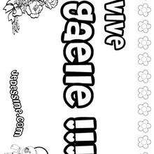 Gaelle - Coloriage - Coloriage PRENOMS - Coloriage PRENOMS LETTRE G