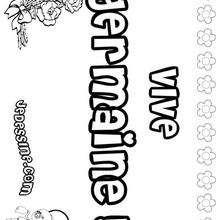 Germaine - Coloriage - Coloriage PRENOMS - Coloriage PRENOMS LETTRE G