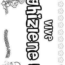 Ghyzlene - Coloriage - Coloriage PRENOMS - Coloriage PRENOMS LETTRE G