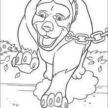 Coloriage NOS VOISINS LES HOMMES d'un gros chien