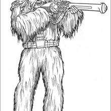 Coloriage STAR WARS du Guerrier Wookie