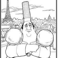Coloriage de Gusteau - Coloriage - Coloriage DISNEY - Coloriage RATATOUILLE