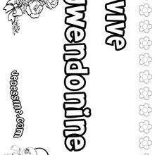 Gwendoline - Coloriage - Coloriage PRENOMS - Coloriage PRENOMS LETTRE G