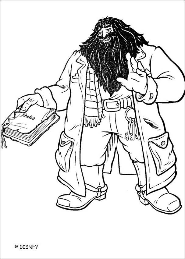 Coloriages hagrid - Coloriage harry potter ...