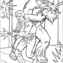 Coloriage STAR WARS de Han Solo et Chewbacca - Coloriage - Coloriage FILMS POUR ENFANTS - Coloriage STAR WARS - Coloriage CHEWBACCA