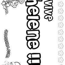 Helene - Coloriage - Coloriage PRENOMS - Coloriage PRENOMS LETTRE H