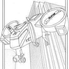 Coloriage Power Rangers : L'hélicoptère SPD