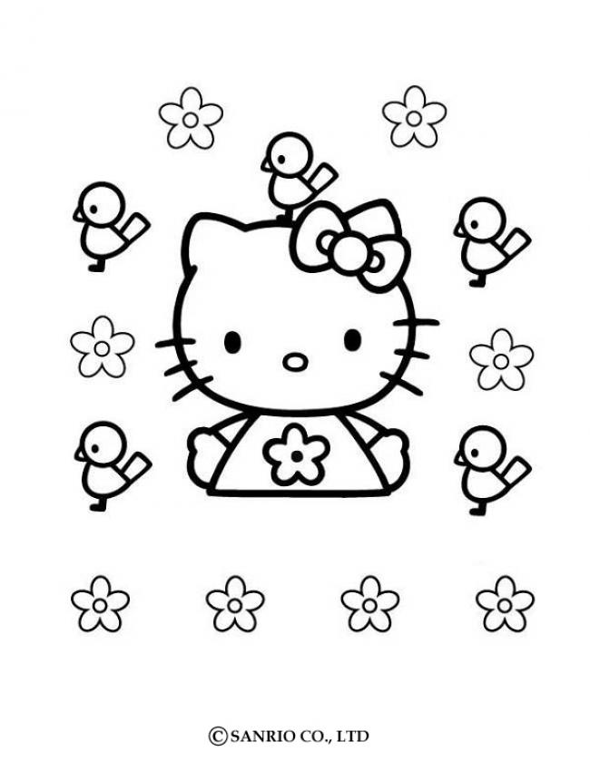 Coloriage Fleur Hello Kitty.Coloriages Hello Kitty Fr Hellokids Com