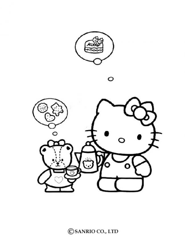 Coloriage Paques Hello Kitty.Coloriages Coloriage De Hello Kitty Et Les Oeufs De Paques Fr