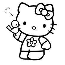 Coloriage de Hello Kitty - Coloriage - Coloriage HELLO KITTY