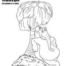 Coloriage HORTON de Horton - Coloriage - Coloriage FILMS POUR ENFANTS - Coloriage HORTON - Coloriage HORTON GRATUIT