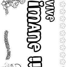 Imane - Coloriage - Coloriage PRENOMS - Coloriage PRENOMS LETTRE I