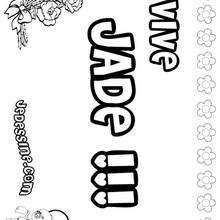 Jade - Coloriage - Coloriage PRENOMS - Coloriage PRENOMS LETTRE J