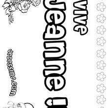 Jeanne - Coloriage - Coloriage PRENOMS - Coloriage PRENOMS LETTRE J