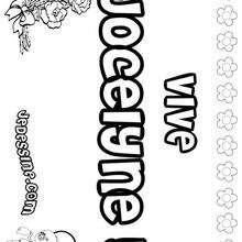 Jocelyne - Coloriage - Coloriage PRENOMS - Coloriage PRENOMS LETTRE J