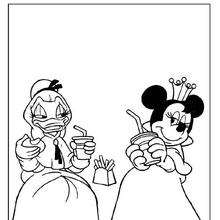 Coloriage de jolies princesses