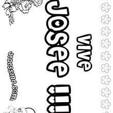 Josée - Coloriage - Coloriage PRENOMS - Coloriage PRENOMS LETTRE J