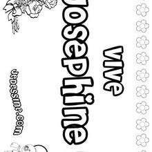 Josephine - Coloriage - Coloriage PRENOMS - Coloriage PRENOMS LETTRE J