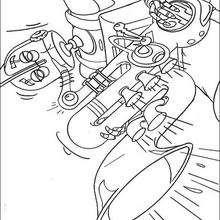 Coloriage d'un joueur de trompette