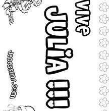 Julia - Coloriage - Coloriage PRENOMS - Coloriage PRENOMS LETTRE J