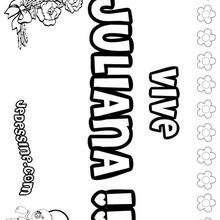 Juliana - Coloriage - Coloriage PRENOMS - Coloriage PRENOMS LETTRE J