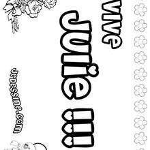 Julie - Coloriage - Coloriage PRENOMS - Coloriage PRENOMS LETTRE J