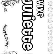 Juliette - Coloriage - Coloriage PRENOMS - Coloriage PRENOMS LETTRE J