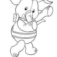 Coloriage de Jumbo l'elephant - Coloriage - Coloriage OUI-OUI - Coloriage ANIMAUX DE OUI-OUI