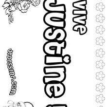 Justine - Coloriage - Coloriage PRENOMS - Coloriage PRENOMS LETTRE J