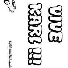 Karl - Coloriage - Coloriage PRENOMS - Coloriage PRENOMS LETTRE K