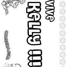 Kelly - Coloriage - Coloriage PRENOMS - Coloriage PRENOMS LETTRE K