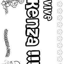 Kenza - Coloriage - Coloriage PRENOMS - Coloriage PRENOMS LETTRE K