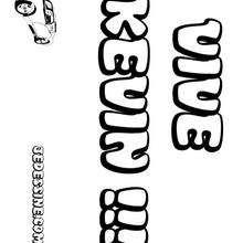 Kevin - Coloriage - Coloriage PRENOMS - Coloriage PRENOMS LETTRE K