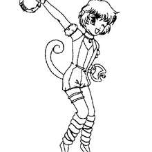 Coloriage de Kiki des Mew Mew Power - Coloriage - Coloriage MANGA - Coloriage MEW MEW POWER
