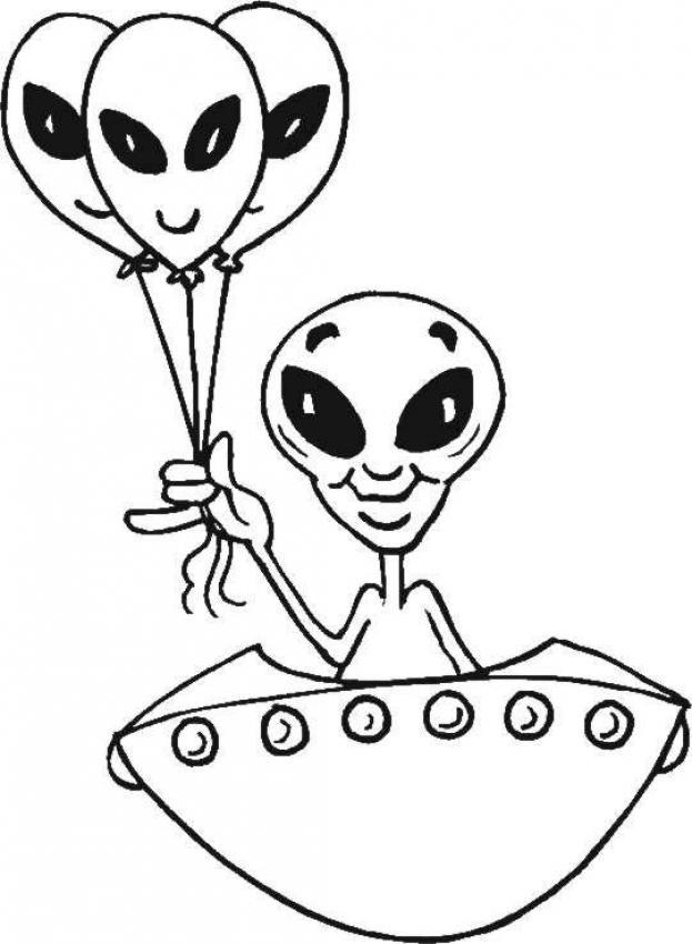 Dessin Soucoupe Volante coloriages soucoupe volante extraterrestre - fr.hellokids