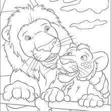Coloriage de l'amour de Ryan et Samson