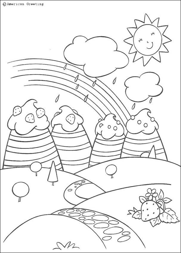Coloriages un arc en ciel sur fraisiland - Arc en ciel dessin a colorier ...