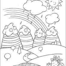 Coloriage d'un arc en ciel - Coloriage - Coloriage PERSONNAGE BD - Coloriage CHARLOTTE AUX FRAISES - Coloriage CHARLOTTE AUX FRAISES A IMPRIMER