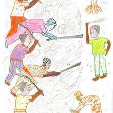 L'égrenage du mais - Lecture - REPORTAGES pour enfant - Aide et Action - 1ere vague de correspondance TOGO