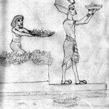 Dessin d'enfant : L'Egypte des Pharaons