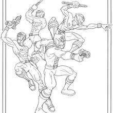 Coloriage de l'equipe des power rangers - Coloriage - Coloriage DESSINS ANIMES - Coloriage POWER RANGERS - Coloriages POWER RANGERS