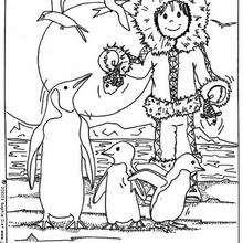 Coloriage d'un esquimau - Coloriage - Coloriage ANIMAUX - Coloriage ENFANTS AVEC DES ANIMAUX