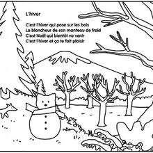 Coloriage de la saison d'hiver - Coloriage - Coloriage GRATUIT - Coloriage GRATUIT CHARIVARI