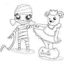 Coloriage de l'ours et la Momie