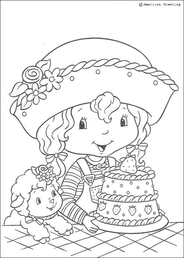 Coloriage de Charlotte aux fraises : Magnifique gâteau