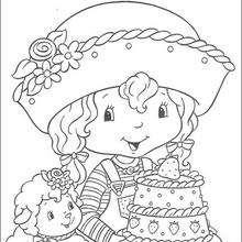 Coloriage du gateau charlotte aux fraises - Coloriage - Coloriage PERSONNAGE BD - Coloriage CHARLOTTE AUX FRAISES - Coloriage CHARLOTTE AUX FRAISES GRATUIT