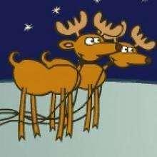 La course en traineau - Jeux - Jeux des fêtes - Jeux de Noël - Jeux Flash Noël