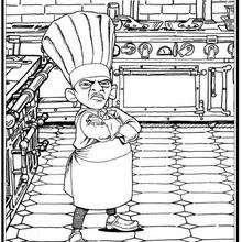 Coloriage de la cuisine de Skinner - Coloriage - Coloriage DISNEY - Coloriage RATATOUILLE